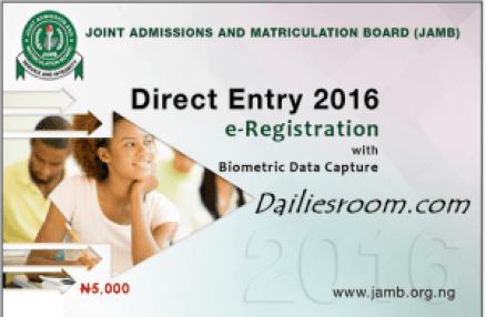 JAMB Direct Entry 2016 e-Registration Form - Scratch card