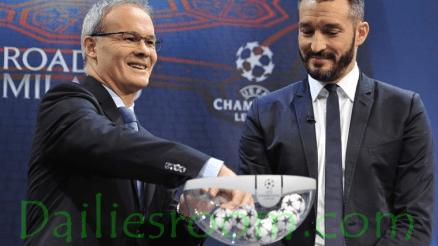 Picture - UEFA Champions League Quarter-final Draw