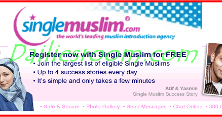 SingleMuslim.com Free Registration logo