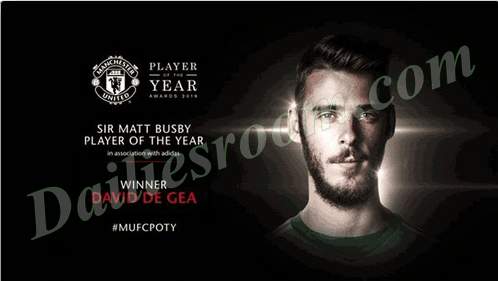 De Gea Set United Player of the Year award Record Equal Ronaldo