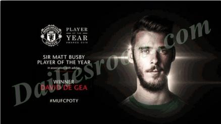 De Gea Set United Player of the Year award Record Equal Ronaldo