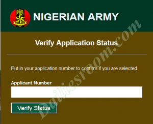 2016 Army 75RRI Pre-Screening Results (Nigerian Army)