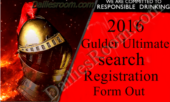 Gulder Ultimate search 2016 Registration form Out?