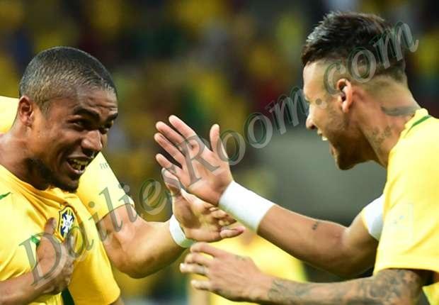 Brazil 2016 Rio Olympics squad in full - Neymar jr, Douglas Costa
