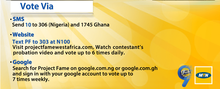 MTN Project Fame Season 9 Nomination Show Performance, TV Schedule, How To Vote