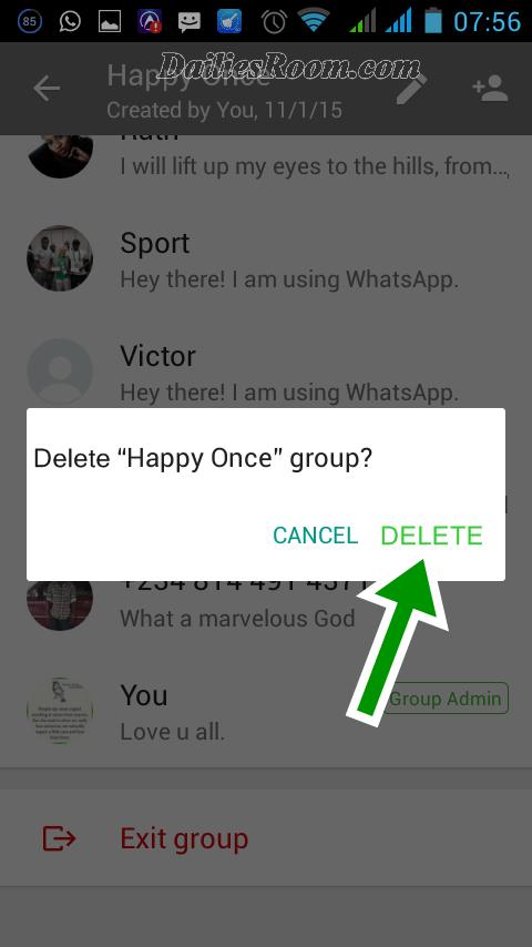 delete-whatsapp-group How to Delete Whatsapp Group Permanently - Whatsapp Group chat Delete Steps