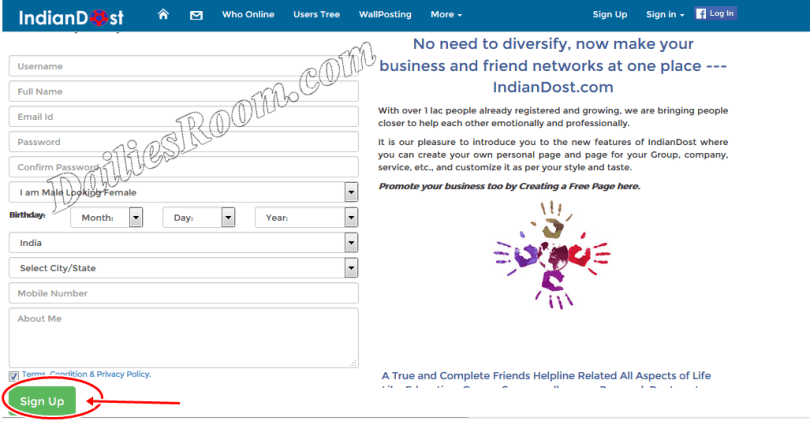 www.indiandost.com Registration - IndianDost Sign Up - IndianDost Sign In