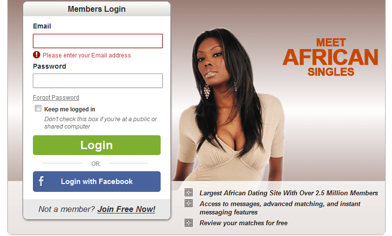 Afro introductions login