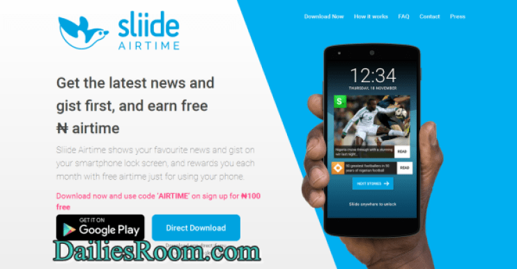 Download Sliide Airtime App And Enjoy Free Airtime on Android