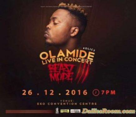 Olamide Live in Concert 3 holds December 26th in Lagos - OLIC 3 - Drops Album same day