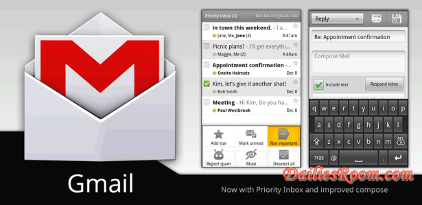 Download And Install Gmail App free for Android | Instant Messages | Less spam