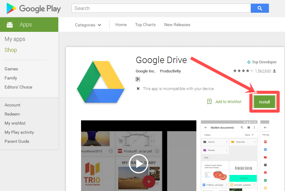 Google drive 1 dailiesroomcom for Download documents google drive