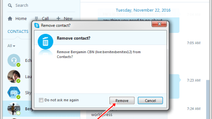 How to Remove Someone from Skype Account Contact On Pc