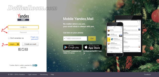 Yandex Mail Registration | Sign Up Yandex Account | Yandex Login mail.yandex.com