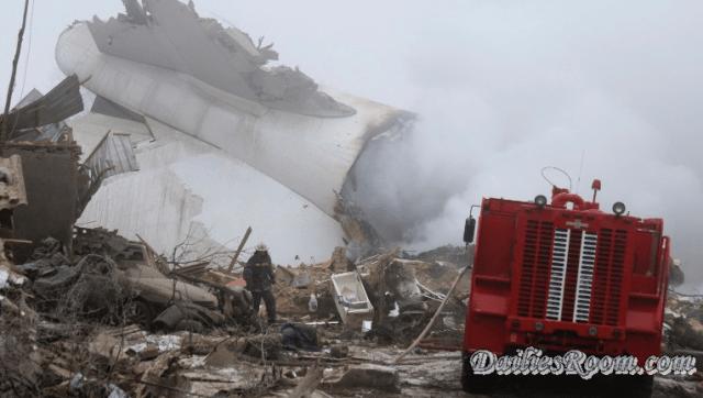 Turkish Cargo 747 Plane Crashes into Village in Kyrgyzstan ; kills 37