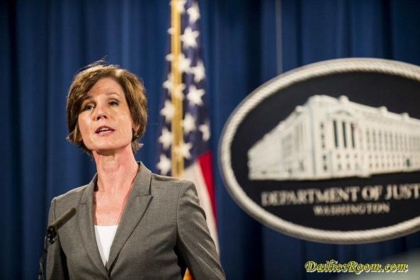 President Donald Trump fires acting AG 'Sally Yates' after she declines to defend travel ban