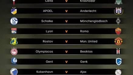 Europa League Last 16 Draws 2017 in Full | Lyon vs Roma, Man United vs Russian club
