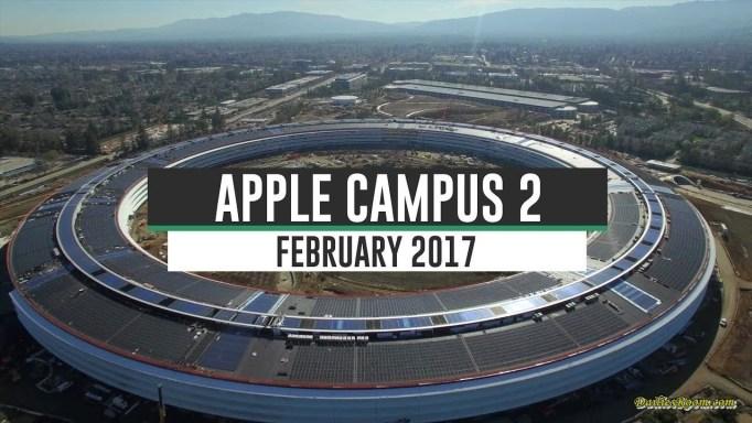 Checkout Apple Spaceship campus 2 in Cupertino, California   Future headquarters of Apple Inc.