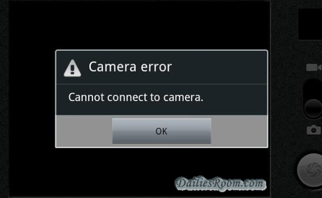 How to Fix Camera Can't Connect Error in Android device | Can't Connect to the Camera