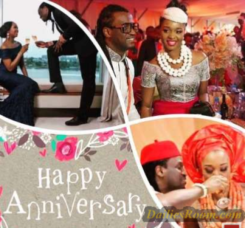Paul Okoye celebrates 3rd Wedding Anniversary with Wife, Anita