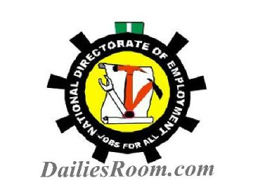 2017 NDE Online Registration Of Unemployed Nigerians | www.jobsforall.ng