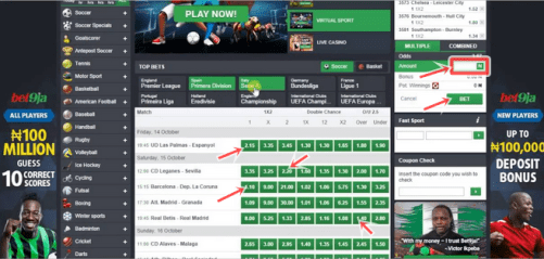 How To Place Online Football Bet On Bet9ja | High Odd Betting