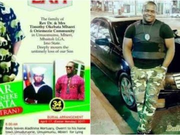Chuks Okebata, US Army Veteran assassinated in broad day light in Nigeria as been laid to rest