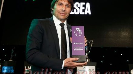 Chelsea Boss - Conte wins English Premier League Best manager of the Season