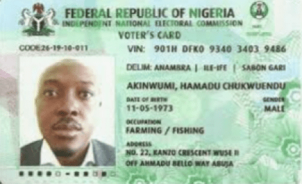 Nigerian's National Identity Card Vs Voters Card | Features; Differences
