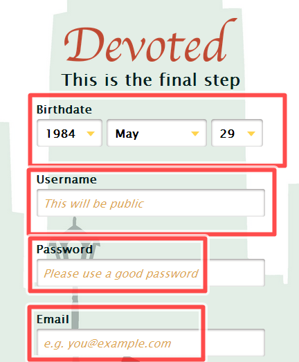 devoted dating site login