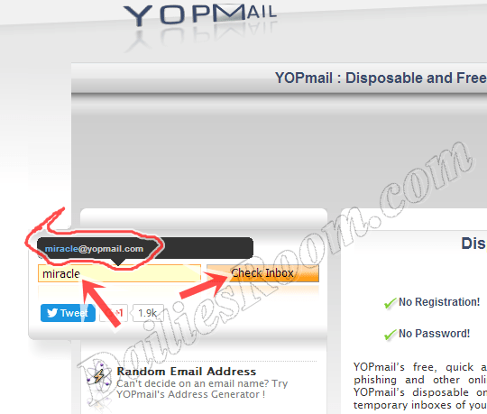 Sign in Yopmail.com - Yopmail Email account Registration ...