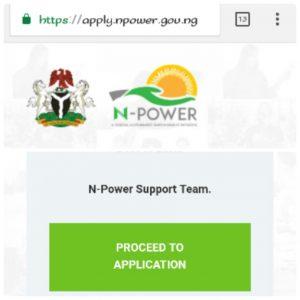 www.apply.npower.gov.ng; N-power Online Application Using Mobile Phones