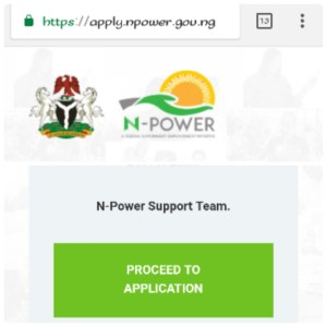 www.apply.npower.gov.ng; N-power Online Application Using Mobile Phones