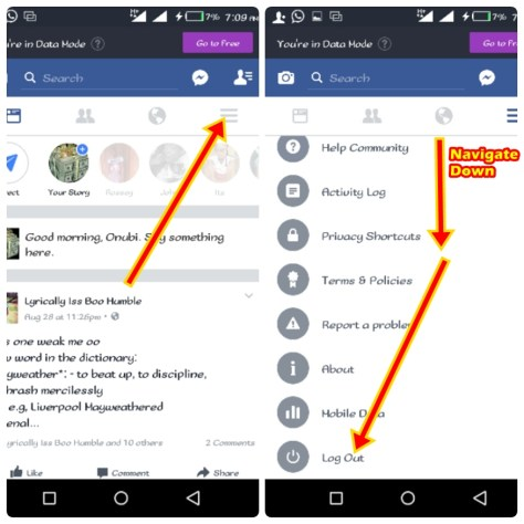 How To Easily Logout Facebook Account Fast | FB.com Logout Page