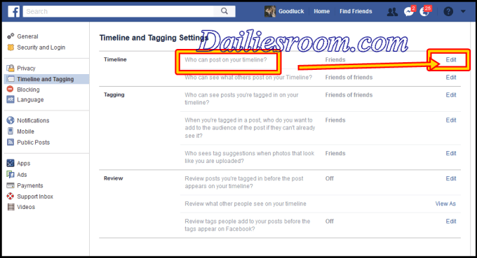 How to stop Friend from Posting on your facebook timeline