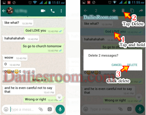Ways to Delete Whatsapp Messages Permanently or clearing WhatsApp Chats History