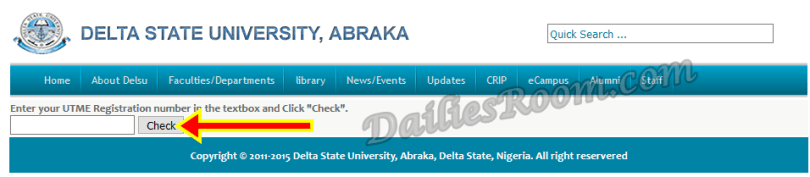 2017/18 DELSU Admission List Released - How to Check at delsu.edu.ng