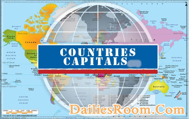 Country Names List With Capitals World Countries And Capital Cities - All countries and capitals of the world