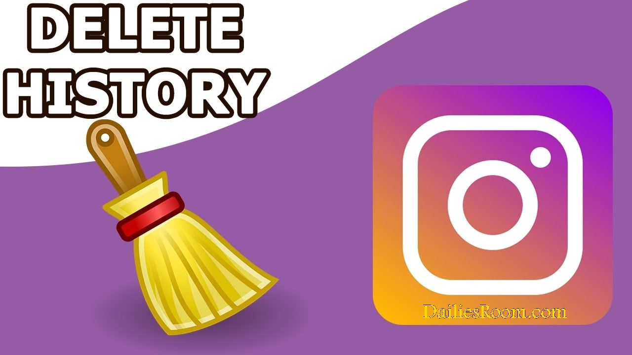 how to clear instagram search on iphone