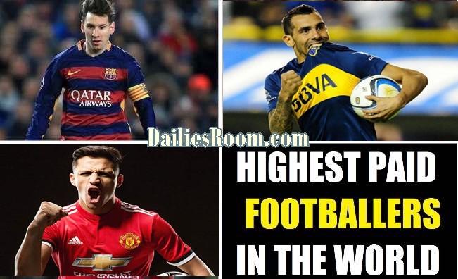 Highest Paid Footballer Per Week in 2018