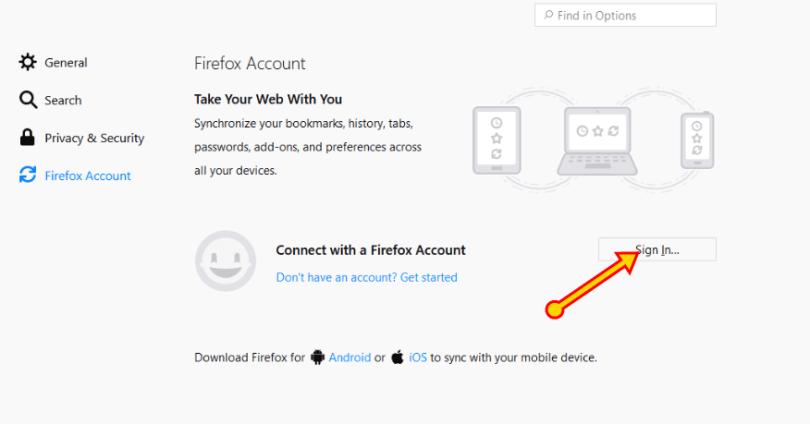 Create a Firefox Account for Firefox Sync