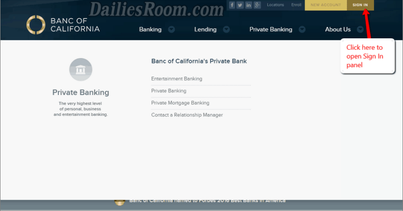 Banc of California Online Banking Login and Recover Forgotten Password