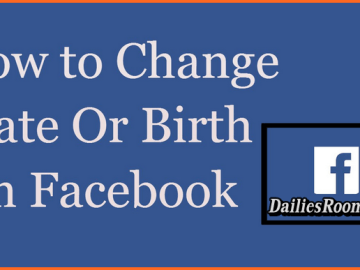 How to change Facebook Date Of Birth - Change Birthday on Facebook