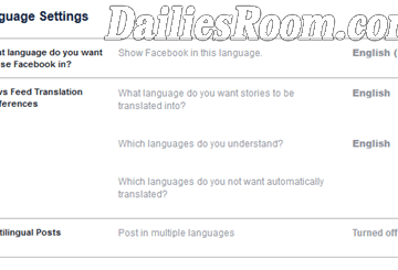 How to Change Facebook Account Language - Change FB Language