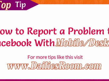 How to Report a Problem on Facebook Dashboard with Mobile & Desktop