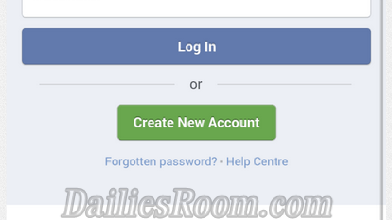 log in to facebook
