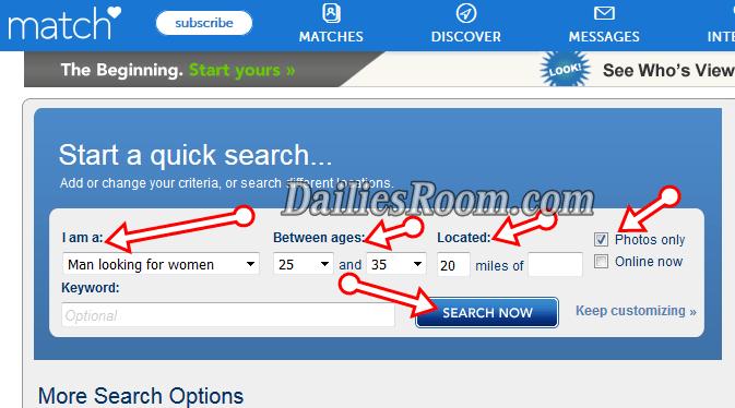 Www.match.comsearch
