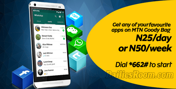 MTN Facebook And Whatsapp Bundle plans for Monthly, Weekly & Daily