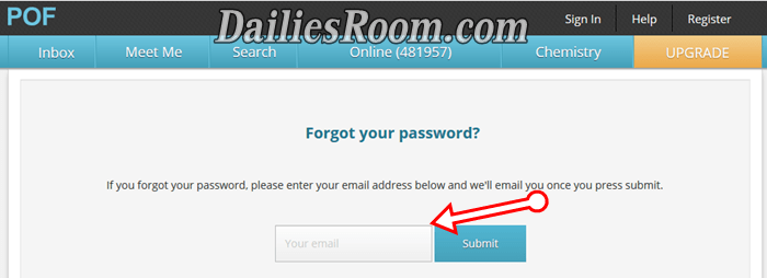 Pof login and password