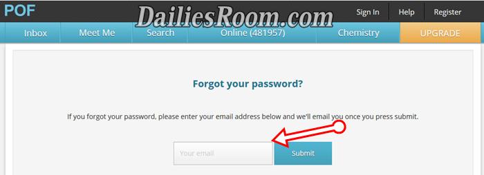 Retrieve POF Login Password Forgotten - PlentyOfFish